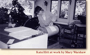 Kate Hitt at work 1990